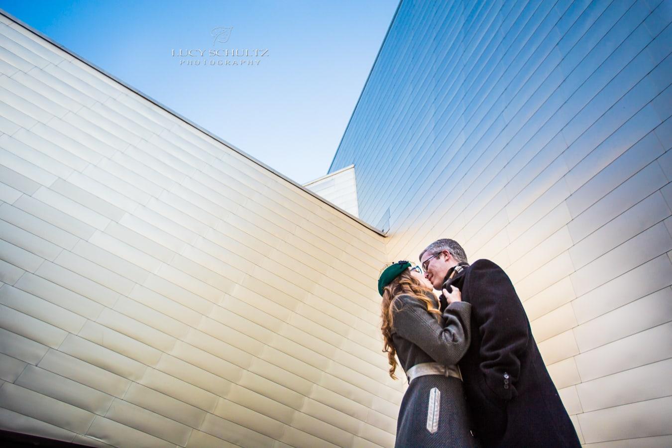Downtown Denver Art Museum Engagement Photos