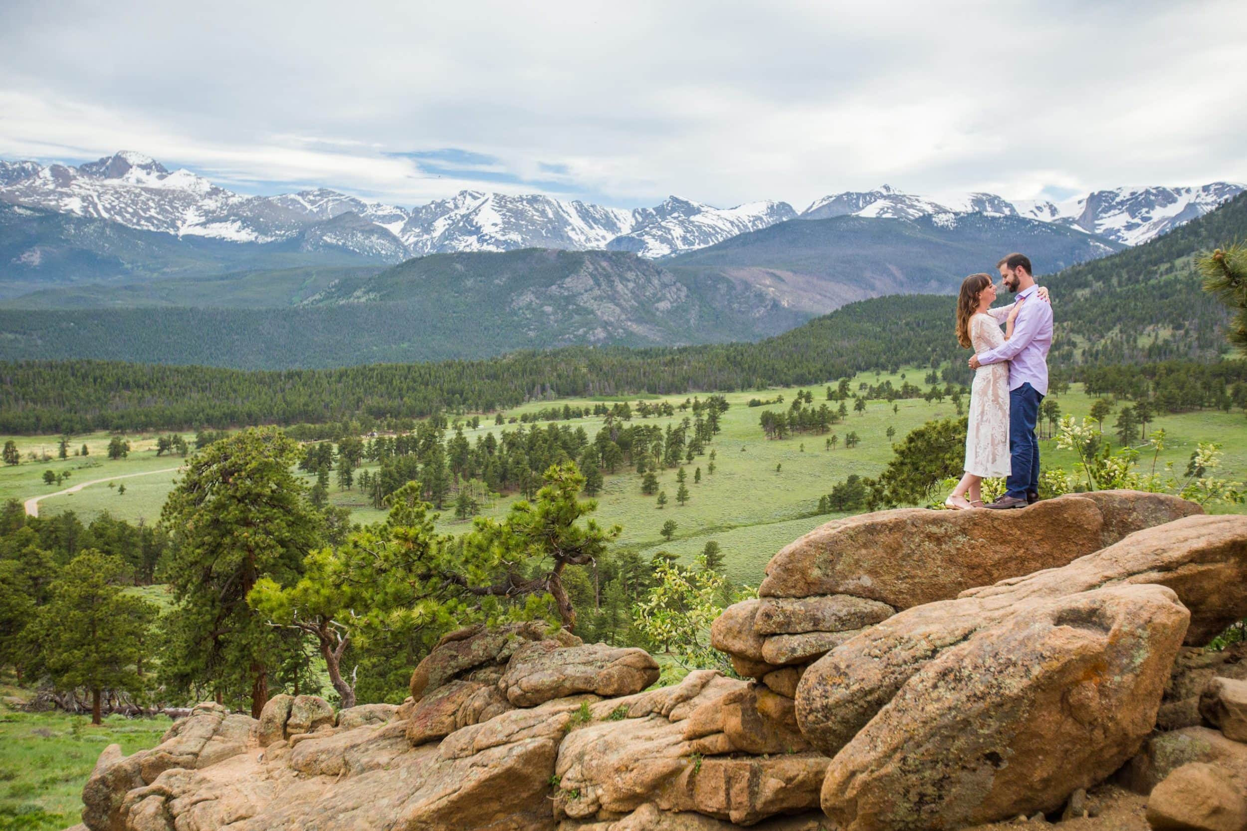 Summer Rocky Mountain National Park Engagement