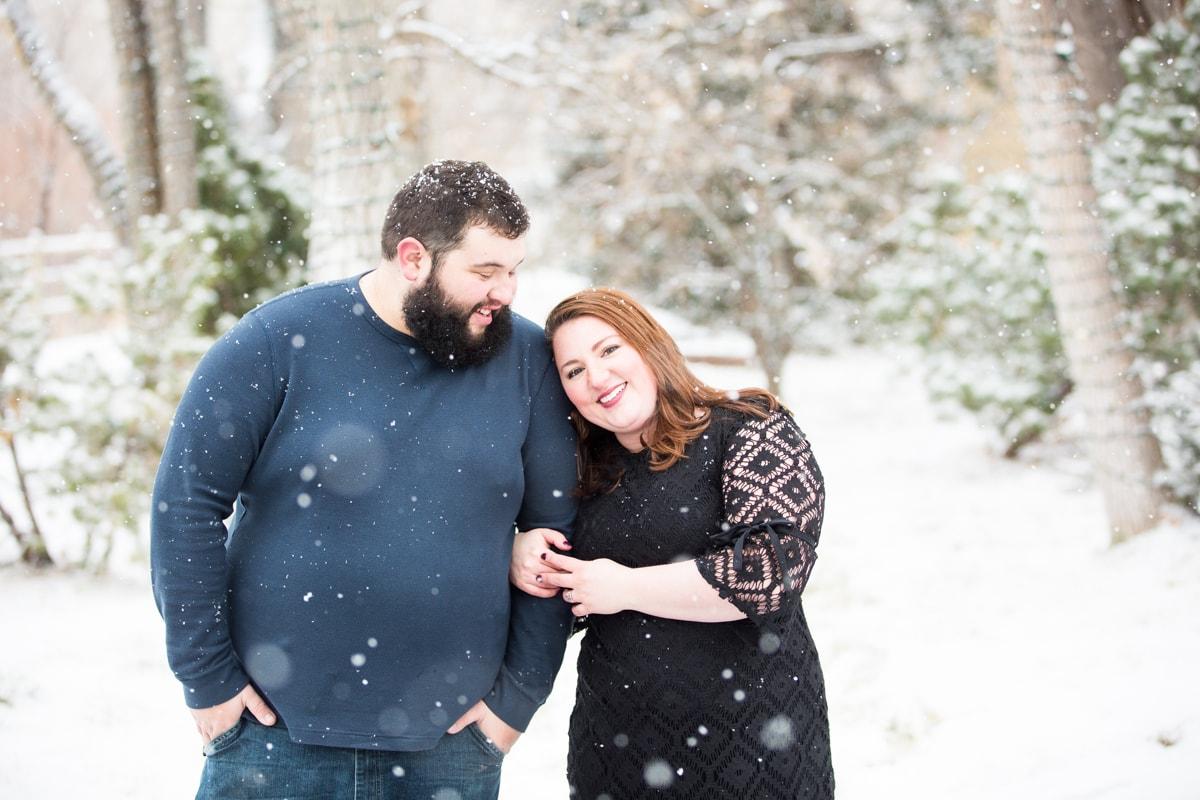 Winter Denver Engagement Photos