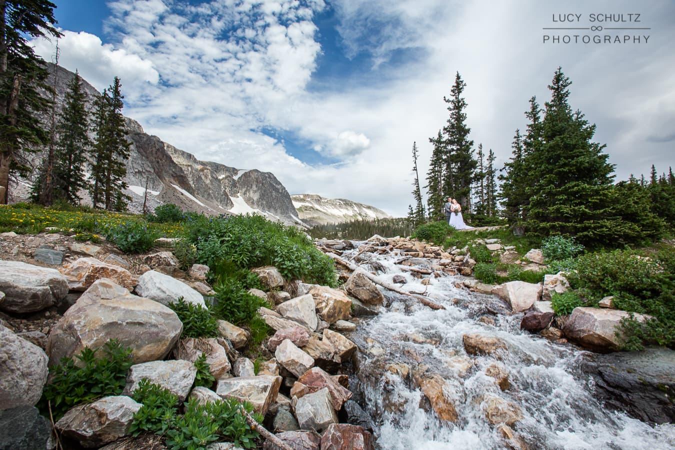 Snowy Mountains Wedding Photos in Wyoming