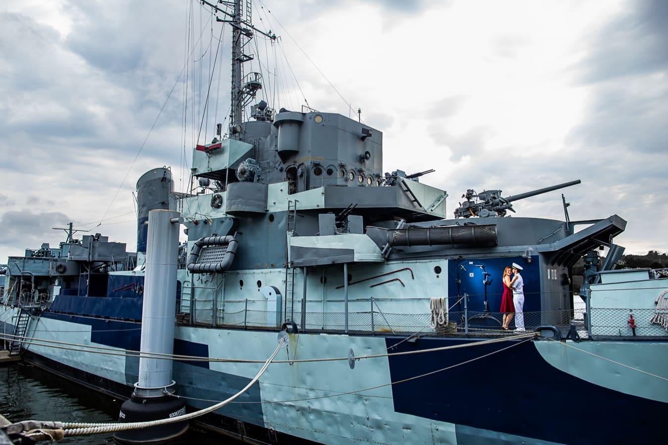 Battleship Engagement Session – Destination Engagement Photographer