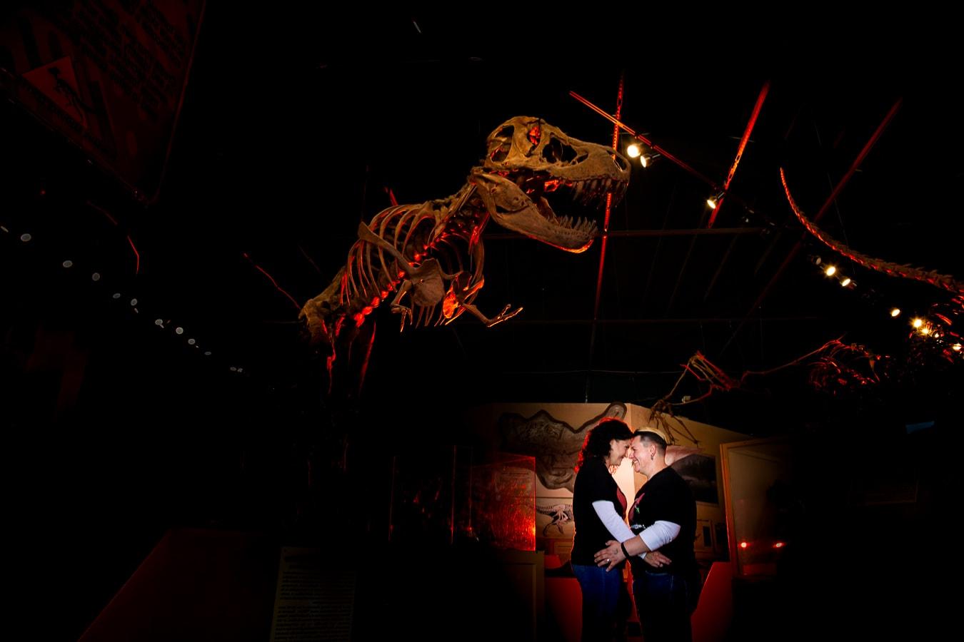 Dinosaur Engagement Photos – Colorado LGBTQ Engagement Photographer