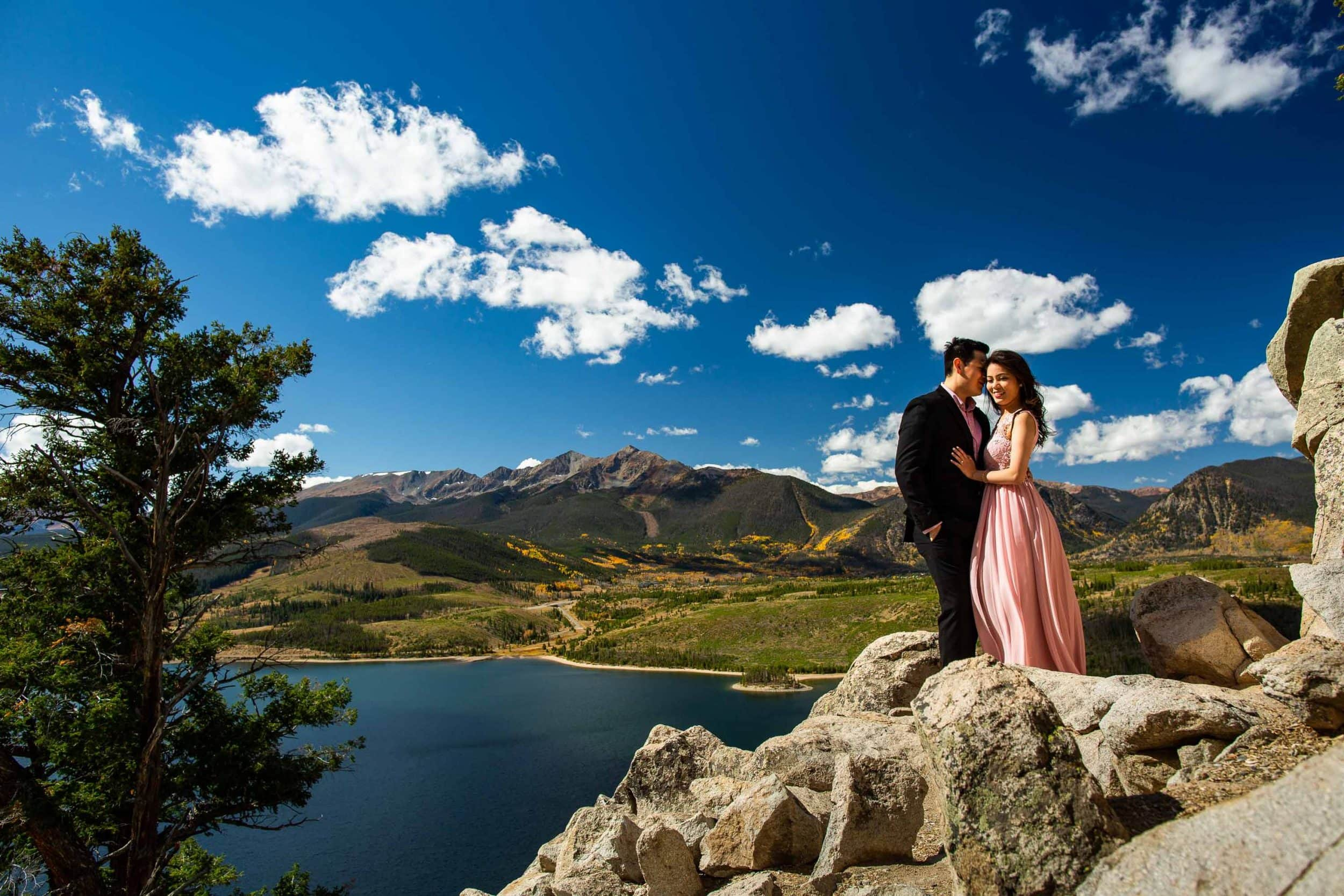 Best Colorado Engagement Photos at Sapphire Point and Frisco