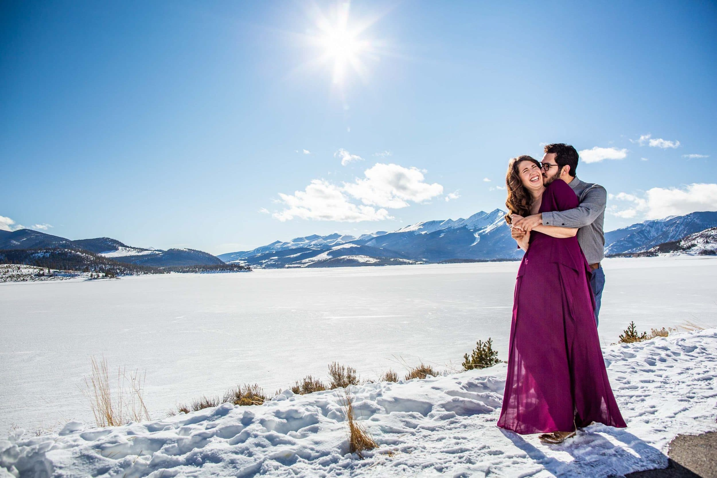 Winter Colorado Engagement Photos – Mountain Engagement Photographer