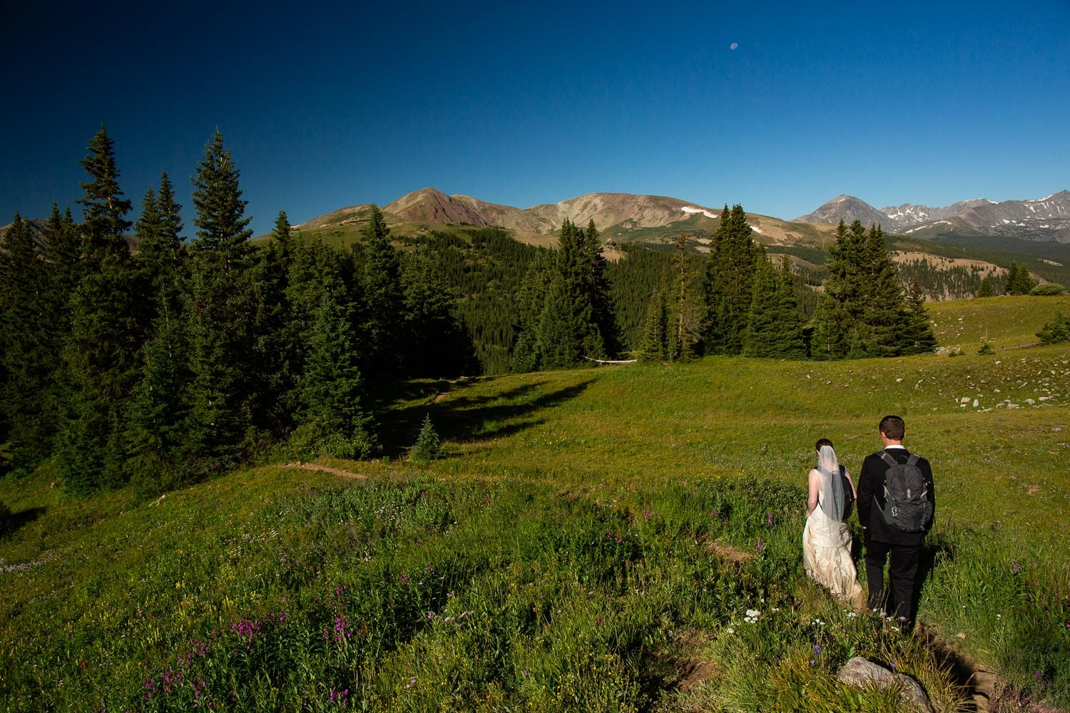 Boreas Pass Hiking Elopement Photos – Colorado Mountain Adventure Elopement Photographer