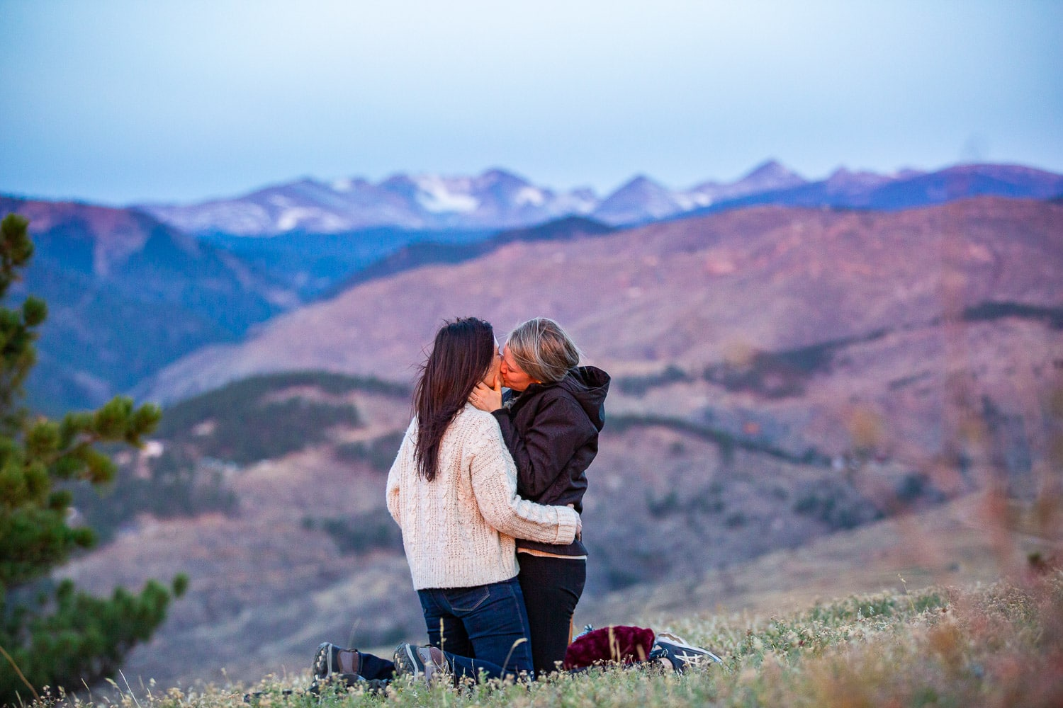Boulder LGBTQ Proposal Photos – Mountain Sunrise Proposal Photographer