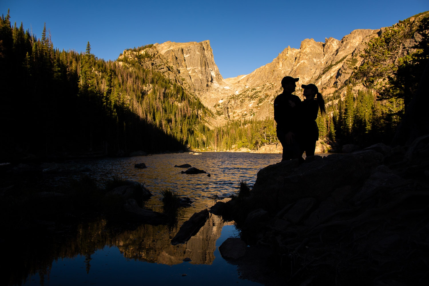 Sunrise Estes Park Proposal Photos – Dream Lake Proposal Photographer