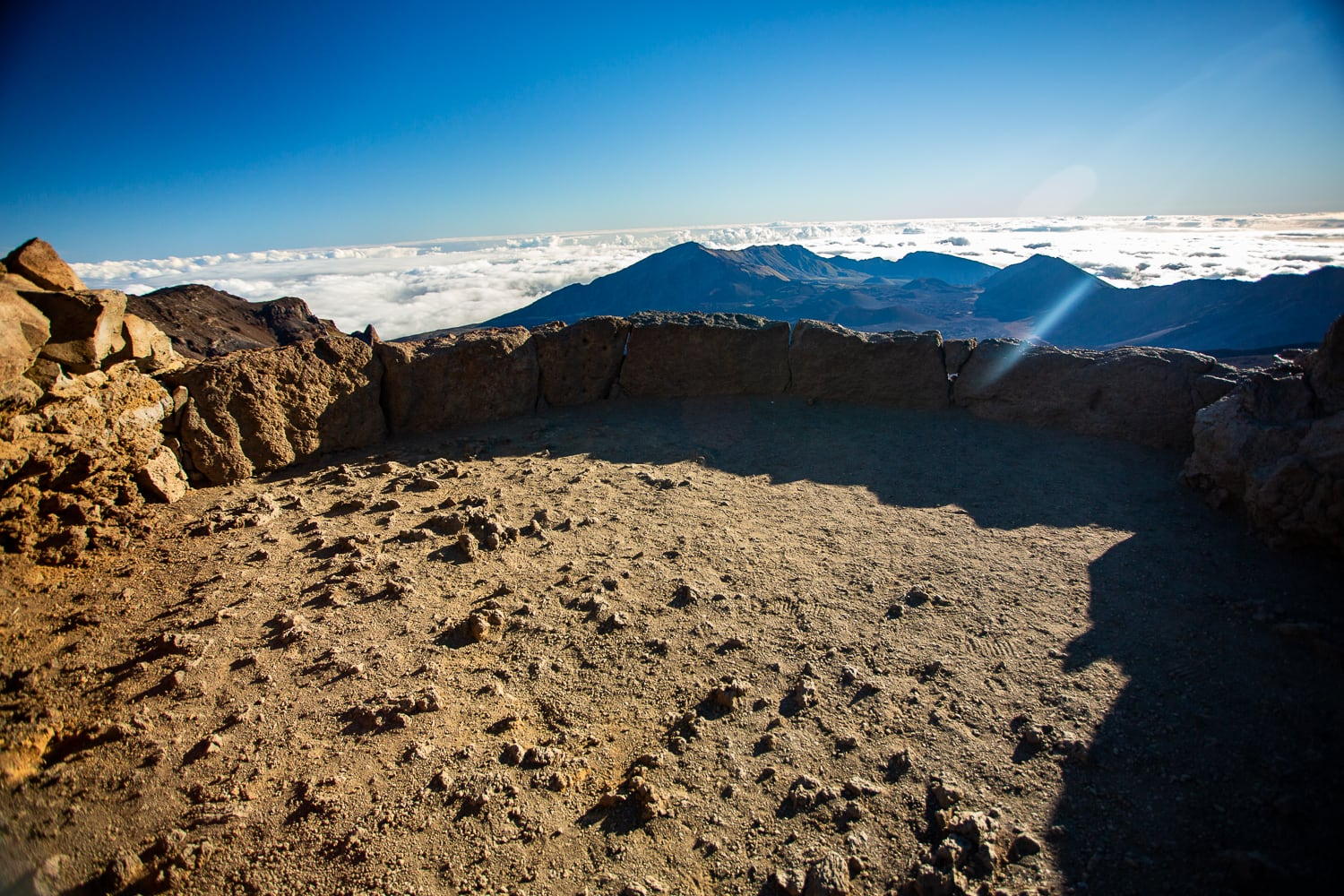 The white hill overlook at Haleakala's summit district