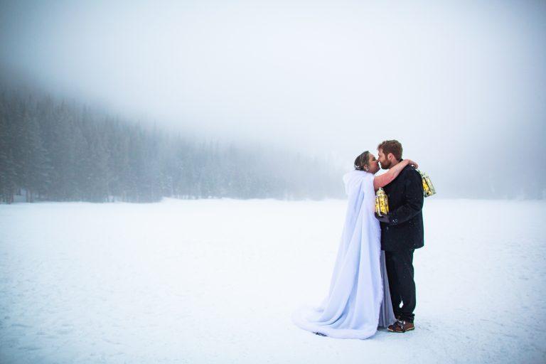 Bear Lake Elopement in the Fog