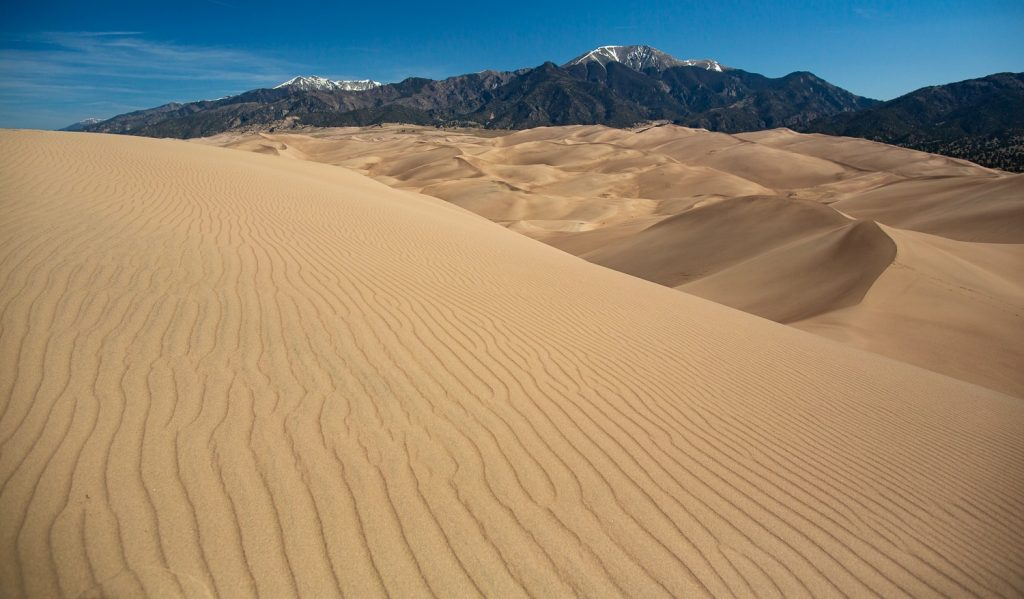 An elopement location at Great Sand Dunes national park in Alamosa, Colorado.