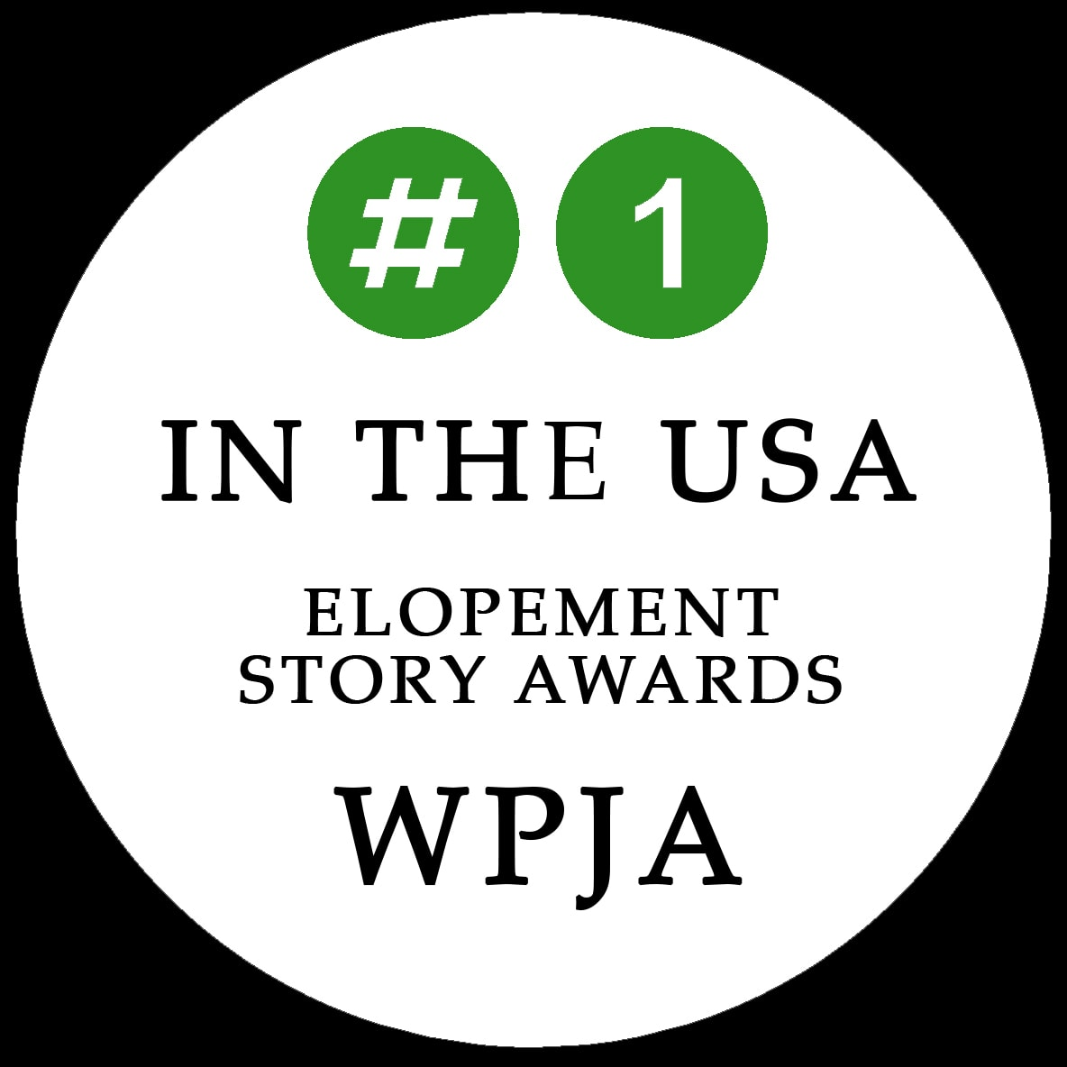 I have the most elopement story awards in the USA