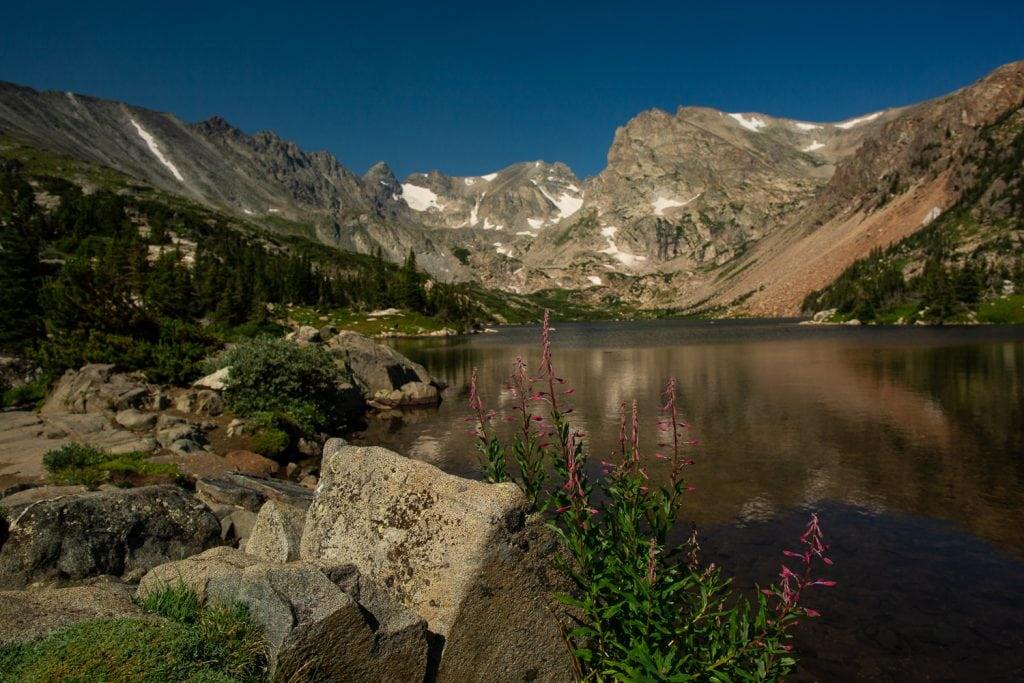 Lake isabelle elopement location in Boulder County, Colorado.