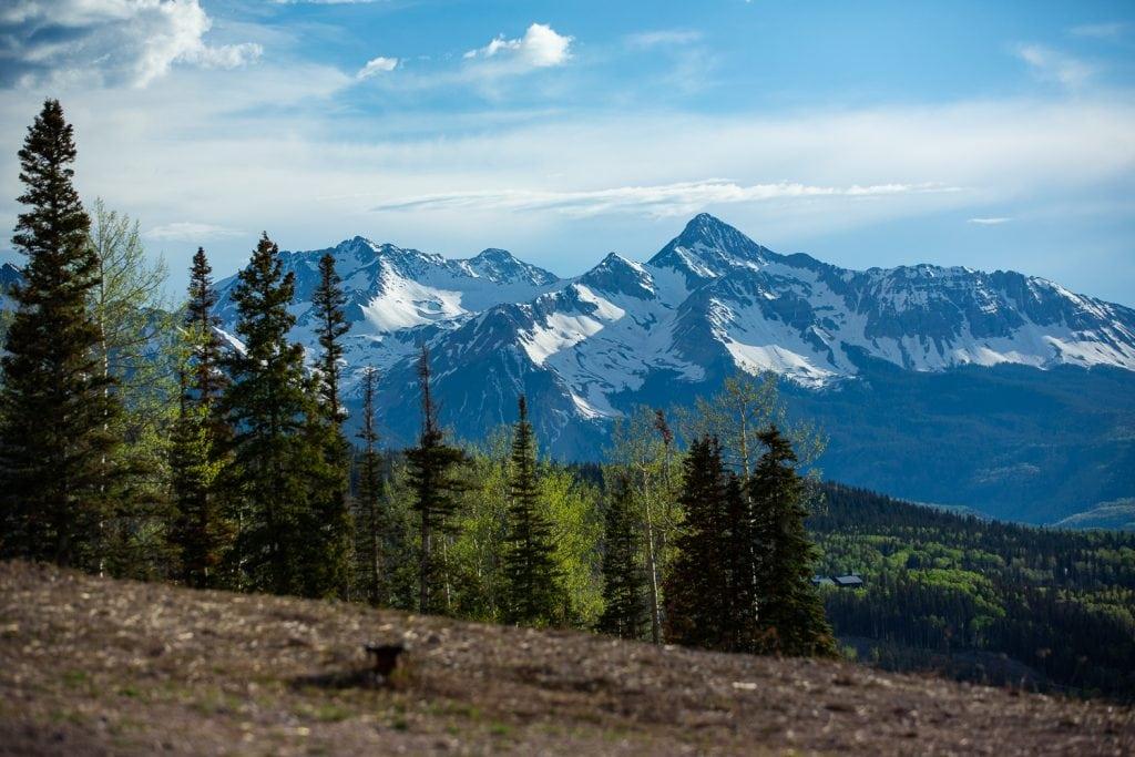 Wilson peak from Telluride, Colorado