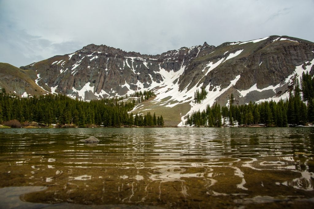 A landscape photo of Alta lakes in telluride, CO in June