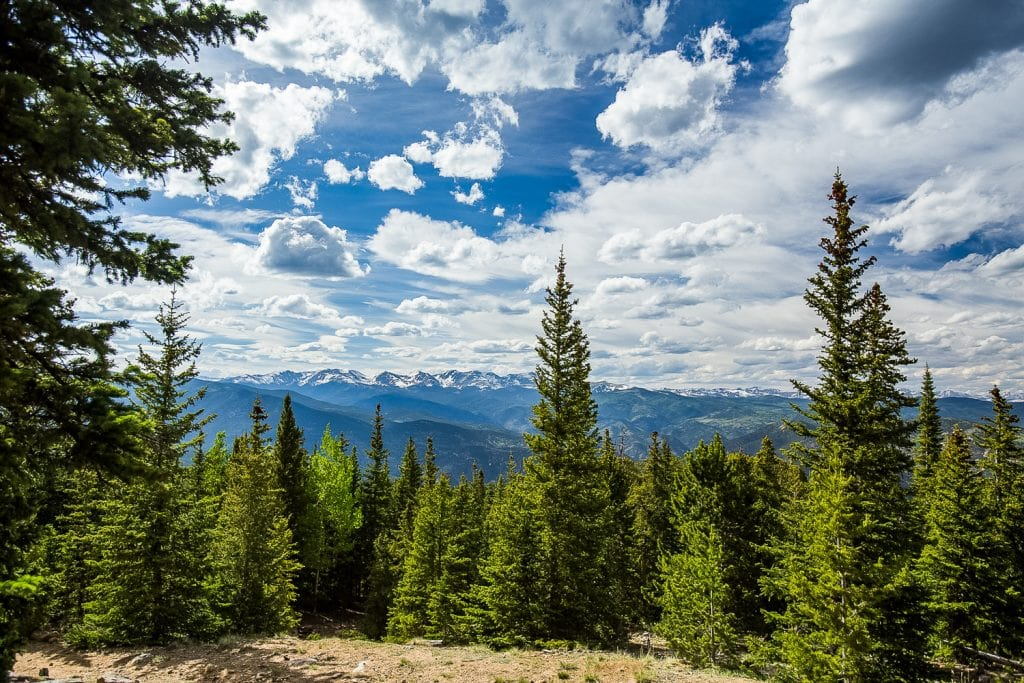 A panoramic mountain view at Mt. Evans in Colorado.