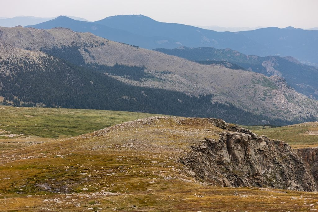 Layers of tundra on Mt. Evans.