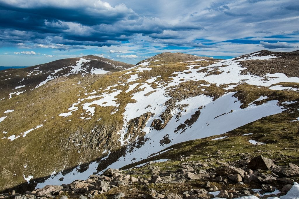 The shoulder of Mt. Evans looking south.