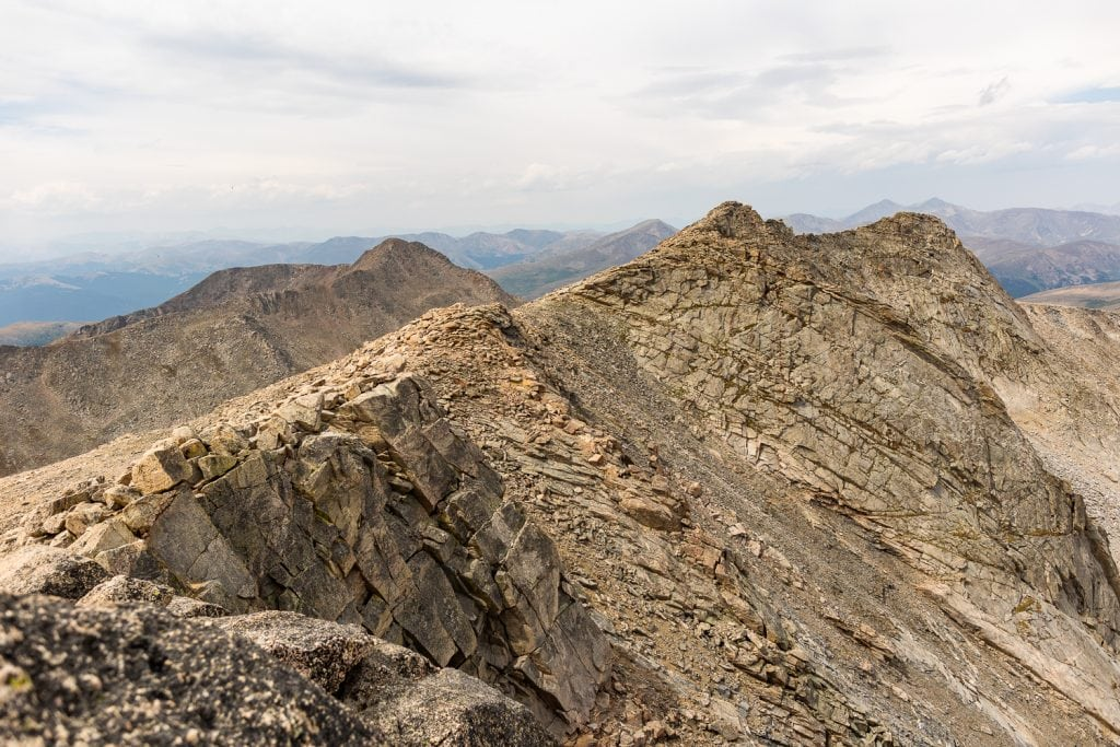 The view looking west from the summit of Mt. Evans.
