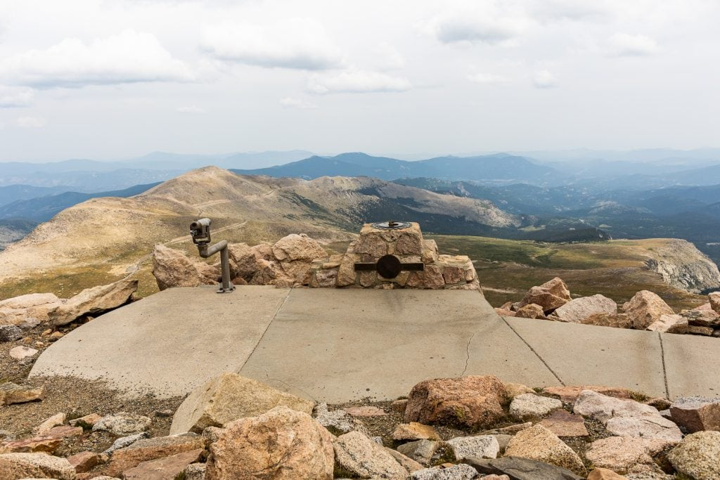 An elopement ceremony location at the summit of Mt Evans that is wheelchair accessible.