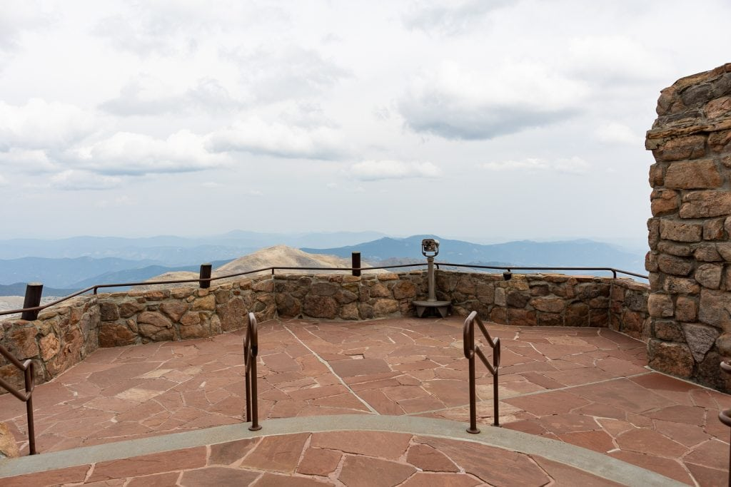An ADA accessible elopement location at the summit of Mt. Evans.