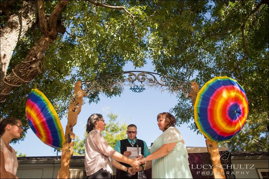 Backyard LGBTQ Wedding Photos