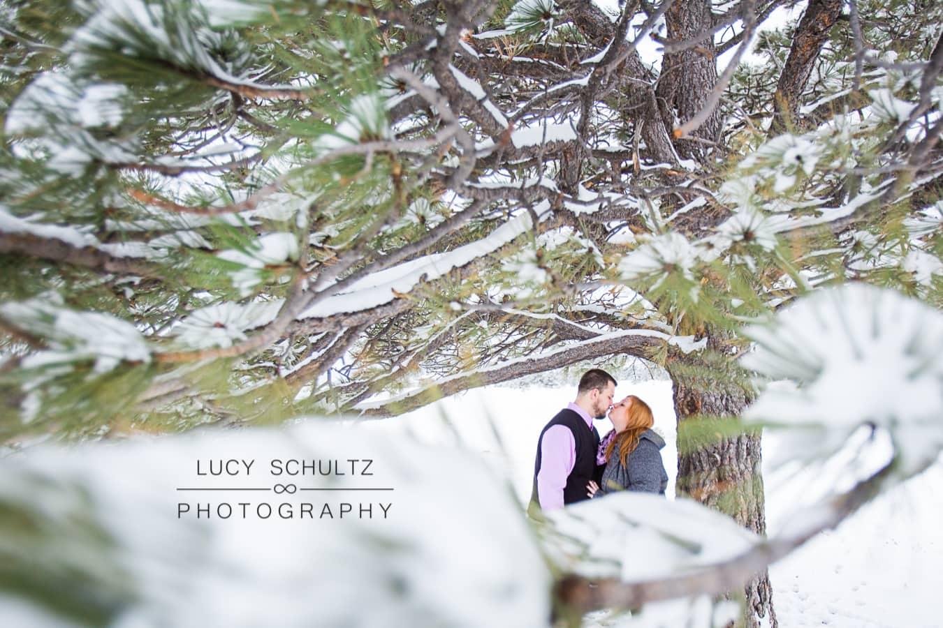 Winter Flatirons Engagement Photos