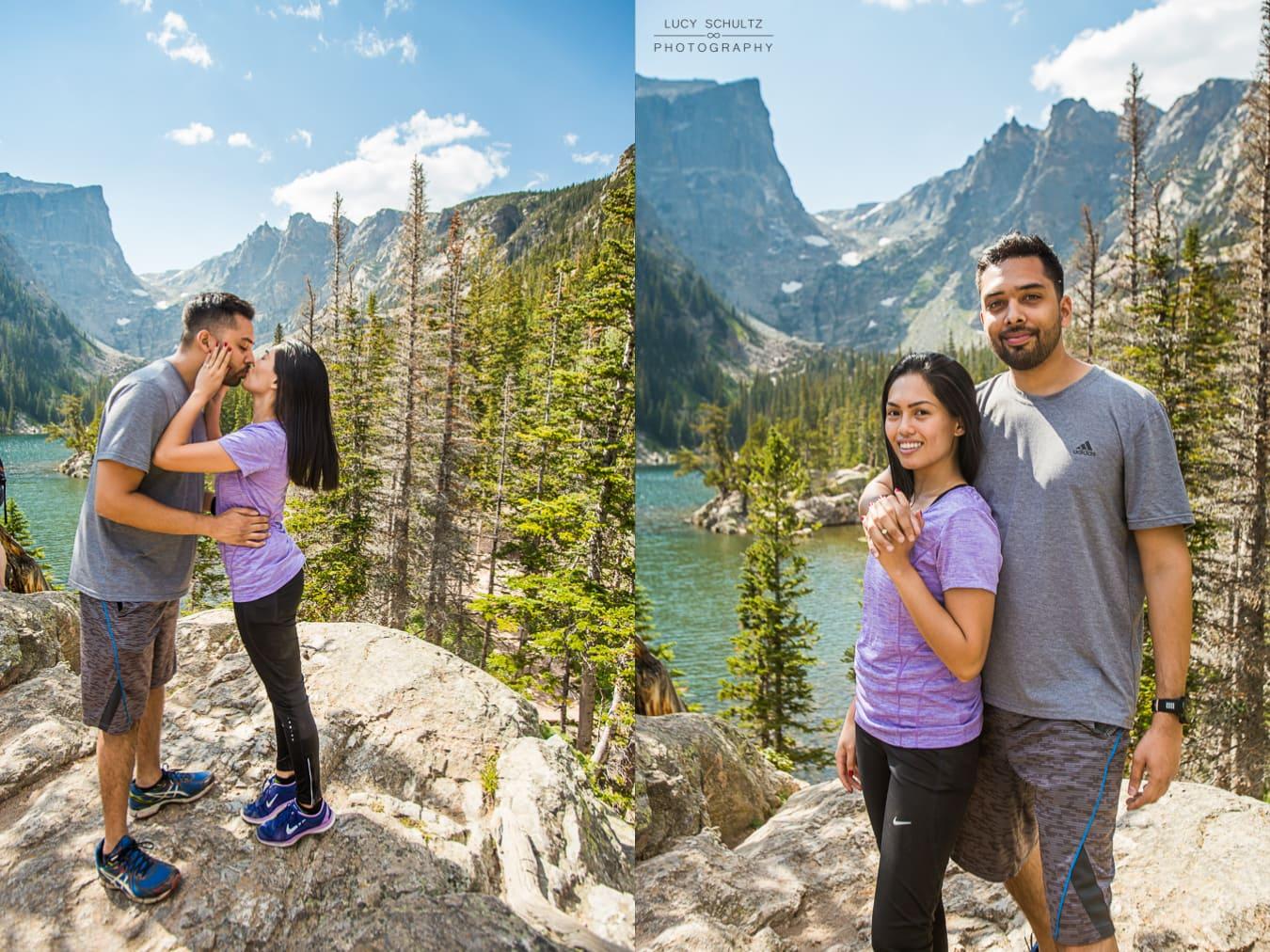 Dream Lake Proposal Photographer – Rocky Mountain National Park Proposal Photographer