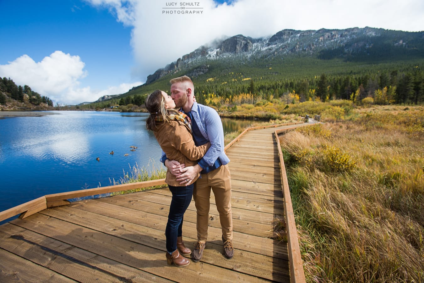 Fall Lily Lake Engagement Photos