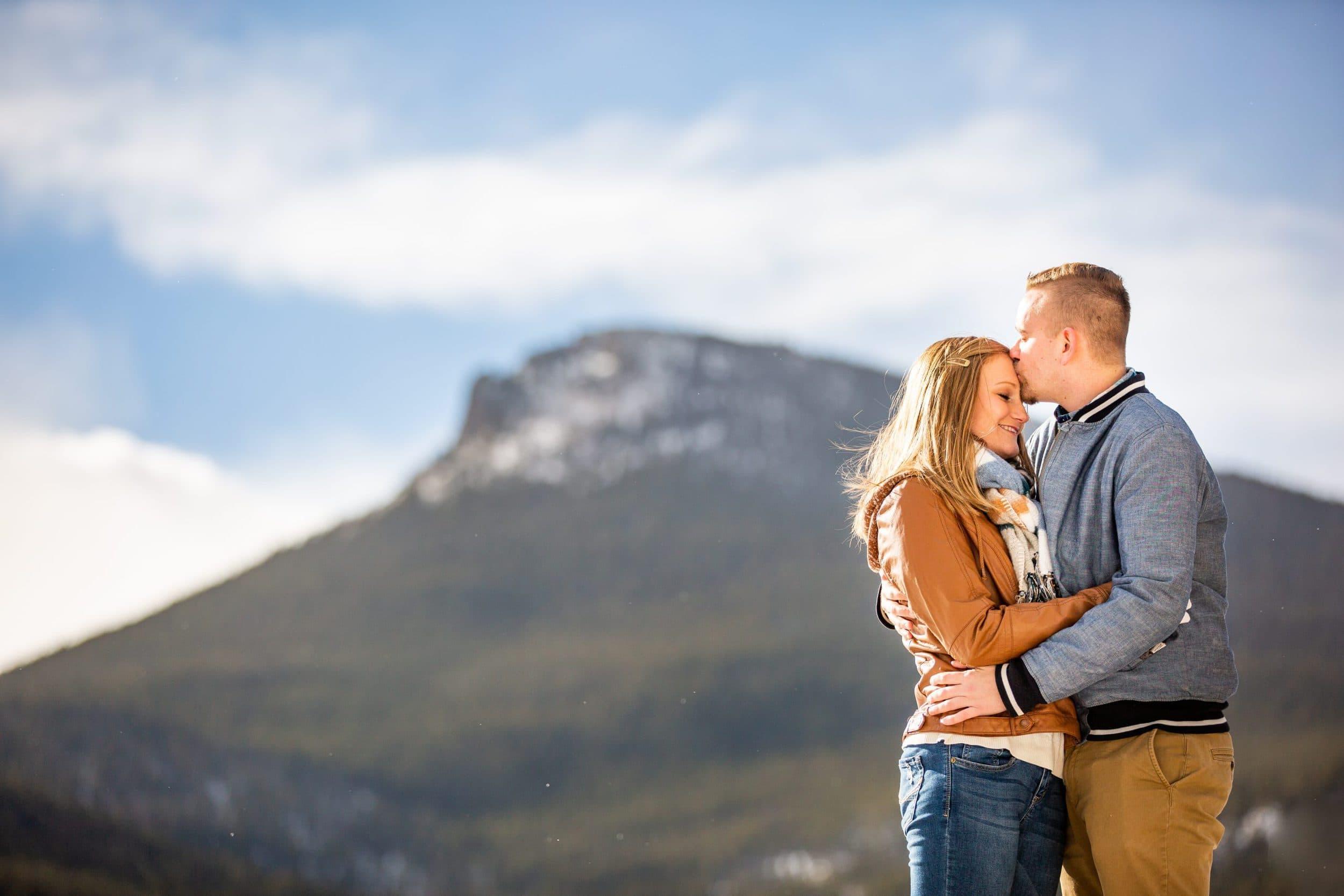 Winter Lily Lake Engagement- Estes Park Engagement Photographer