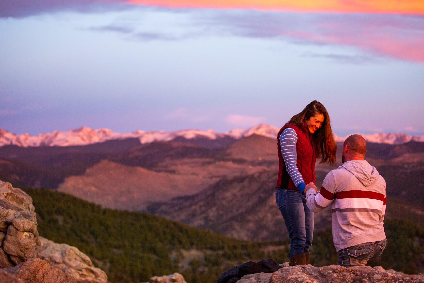 Colorado Mountain Proposal – Sunrise Proposal At Lost Gulch