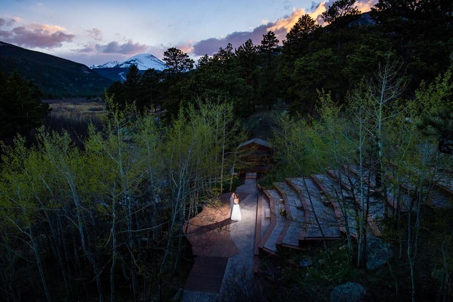 Summer Wild Basin Lodge Wedding