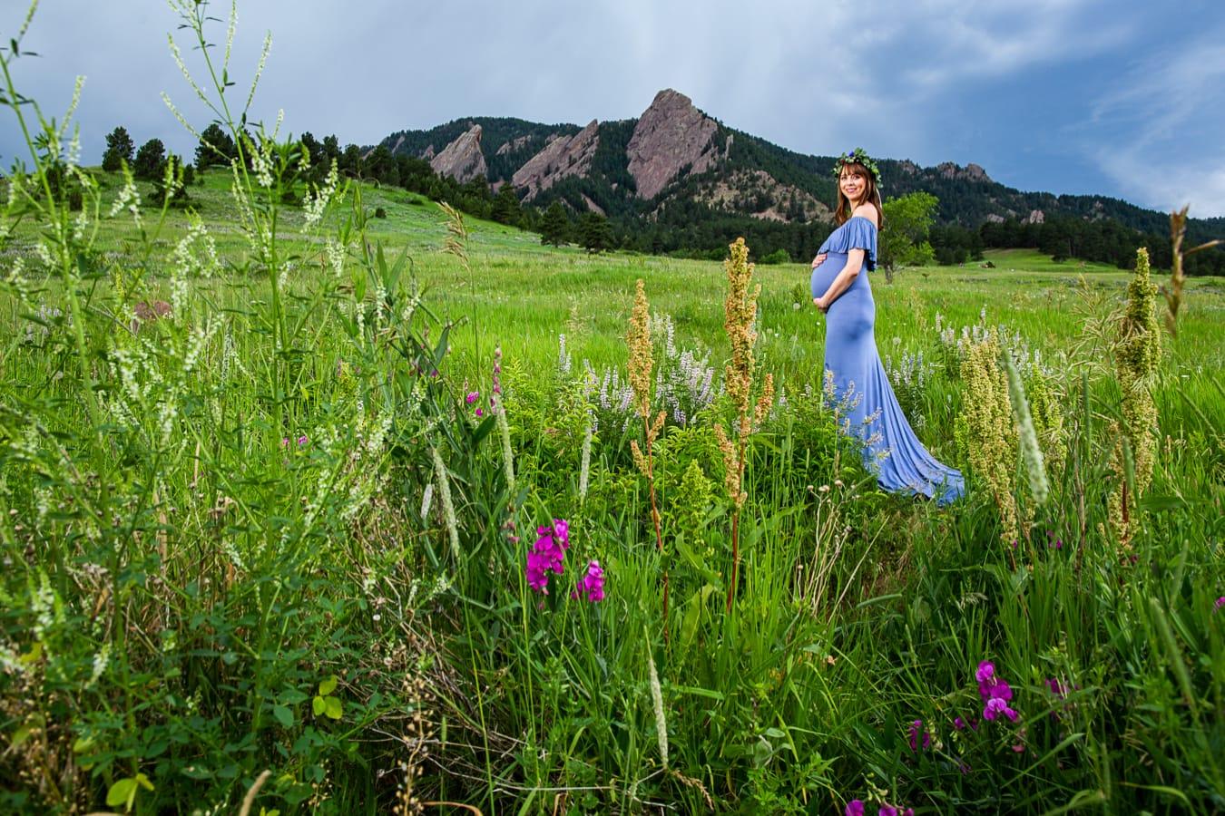 Boulder Flatirons Maternity Photos