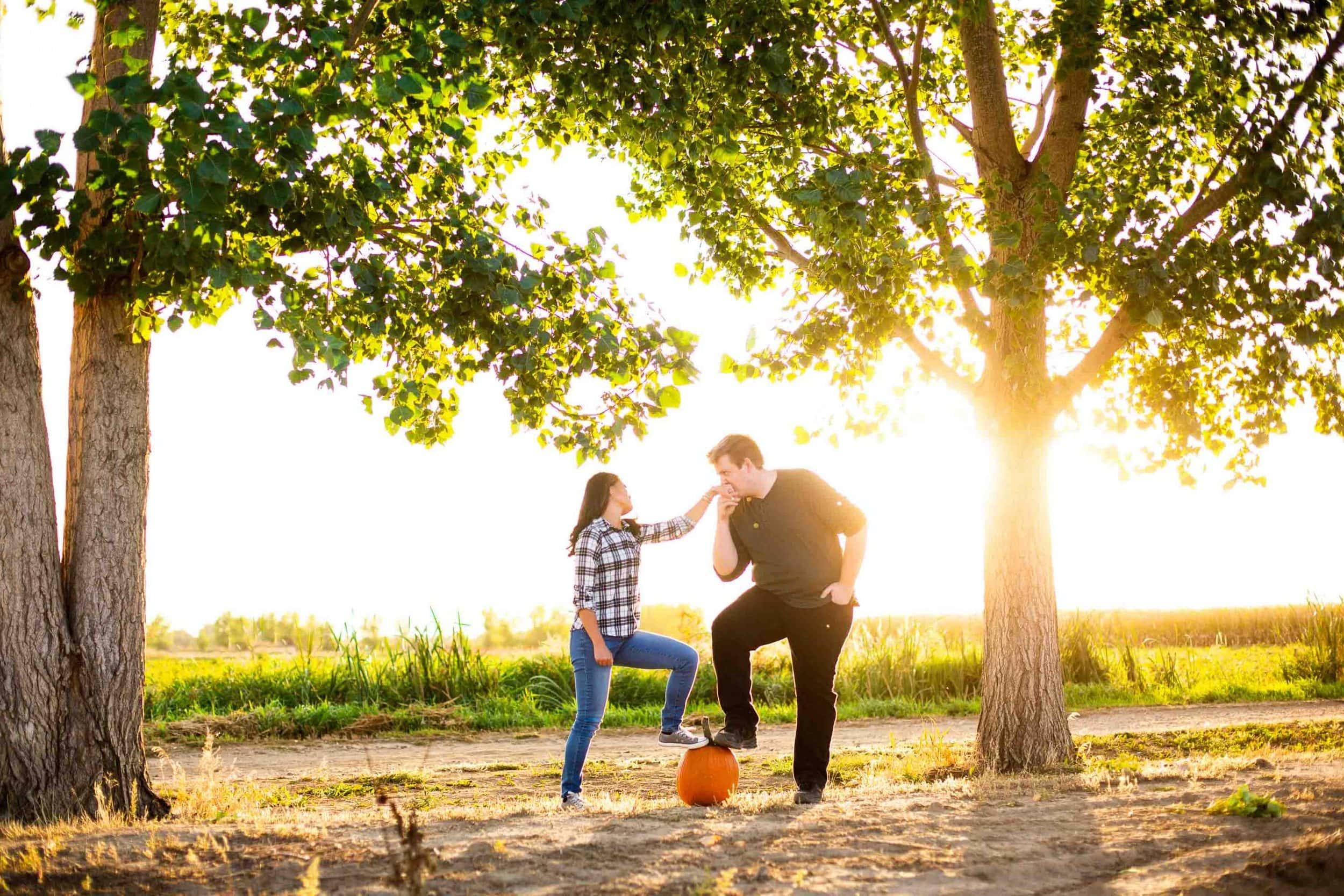 Pumpkin Patch Engagement Photos – Unique Engagement Photographer