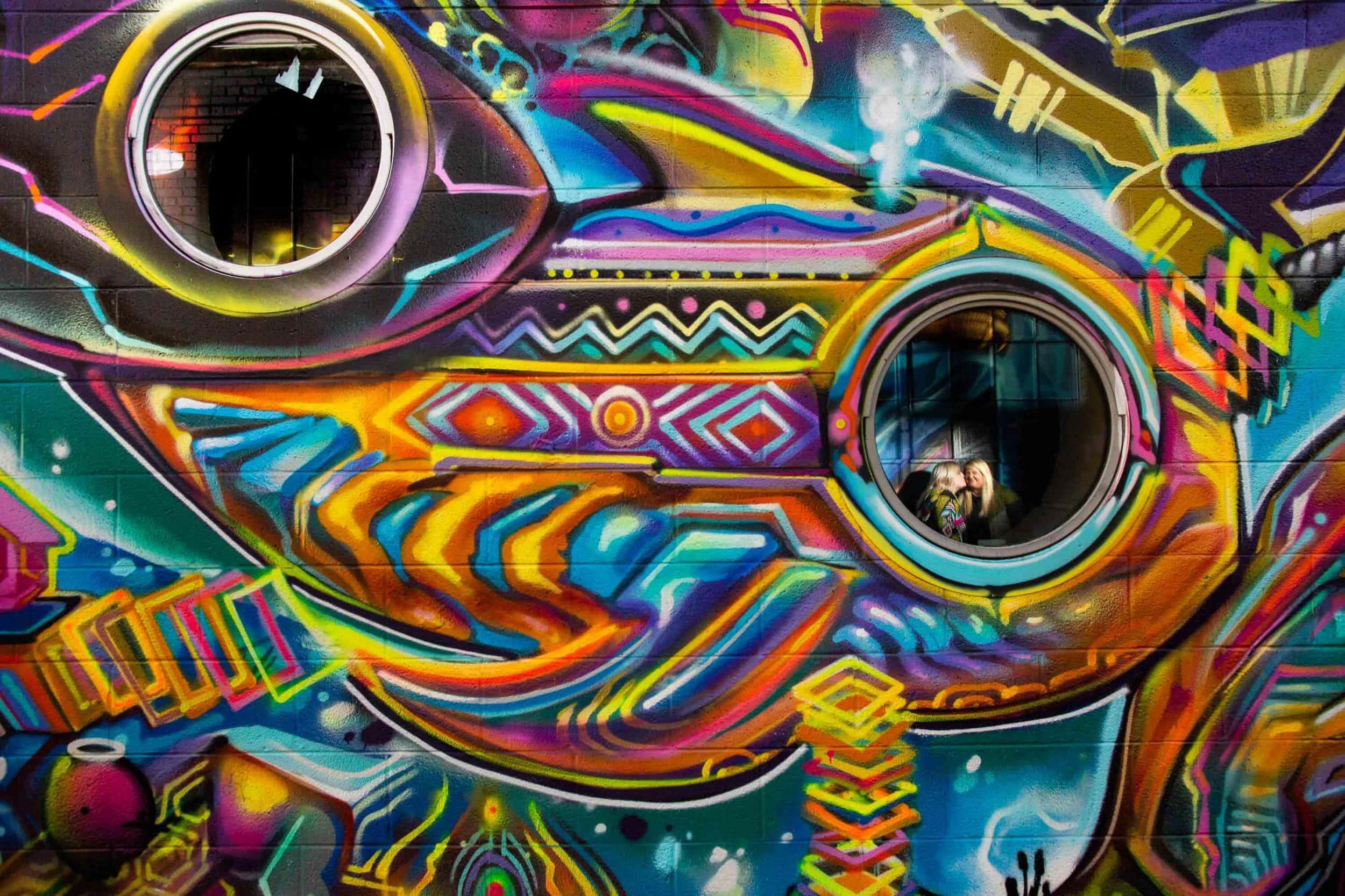 Graffiti Engagement Photos – LGBTQ Engagement Photographer