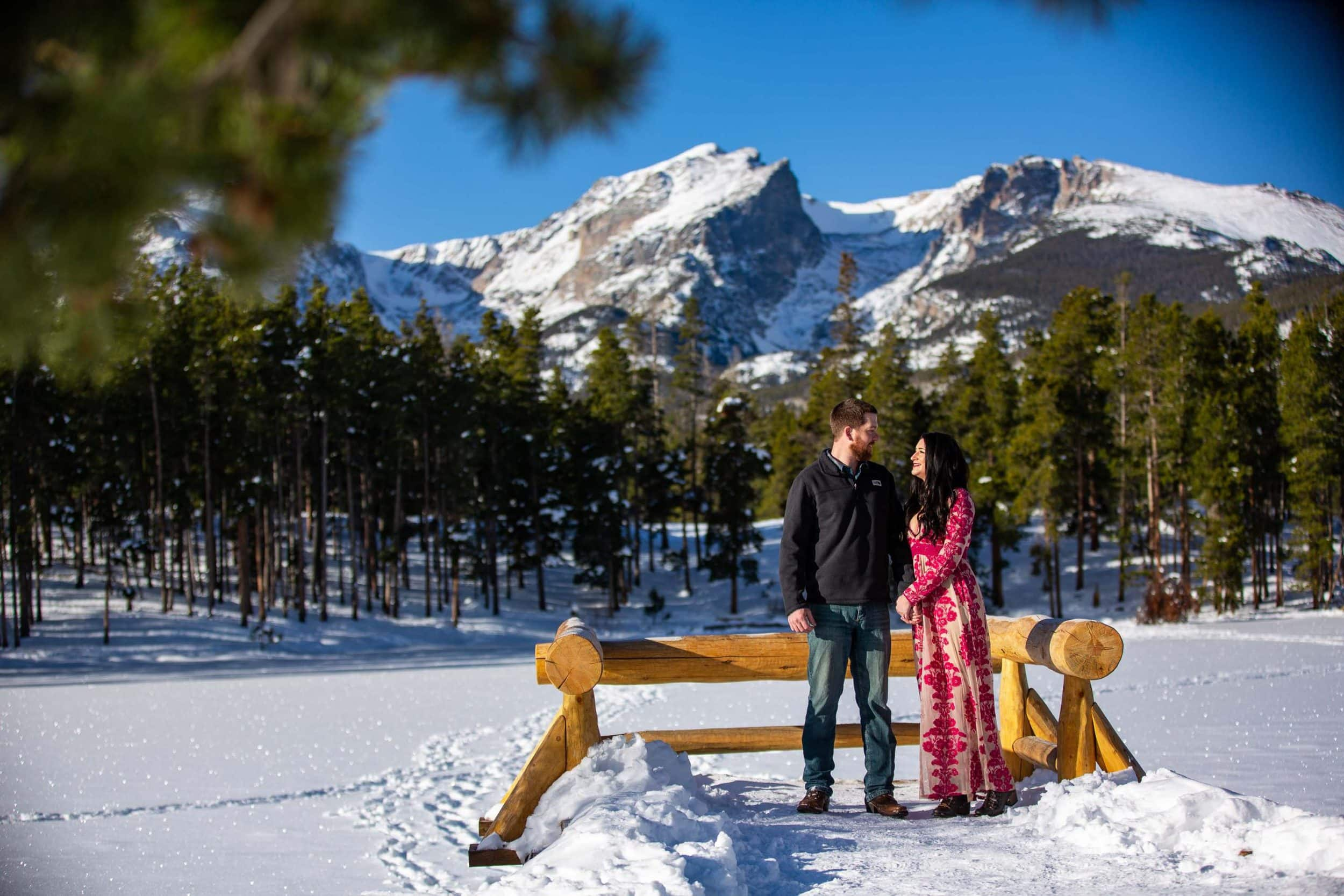 Sprague Lake Engagement Photos – Rocky Mountain National Park Photographer