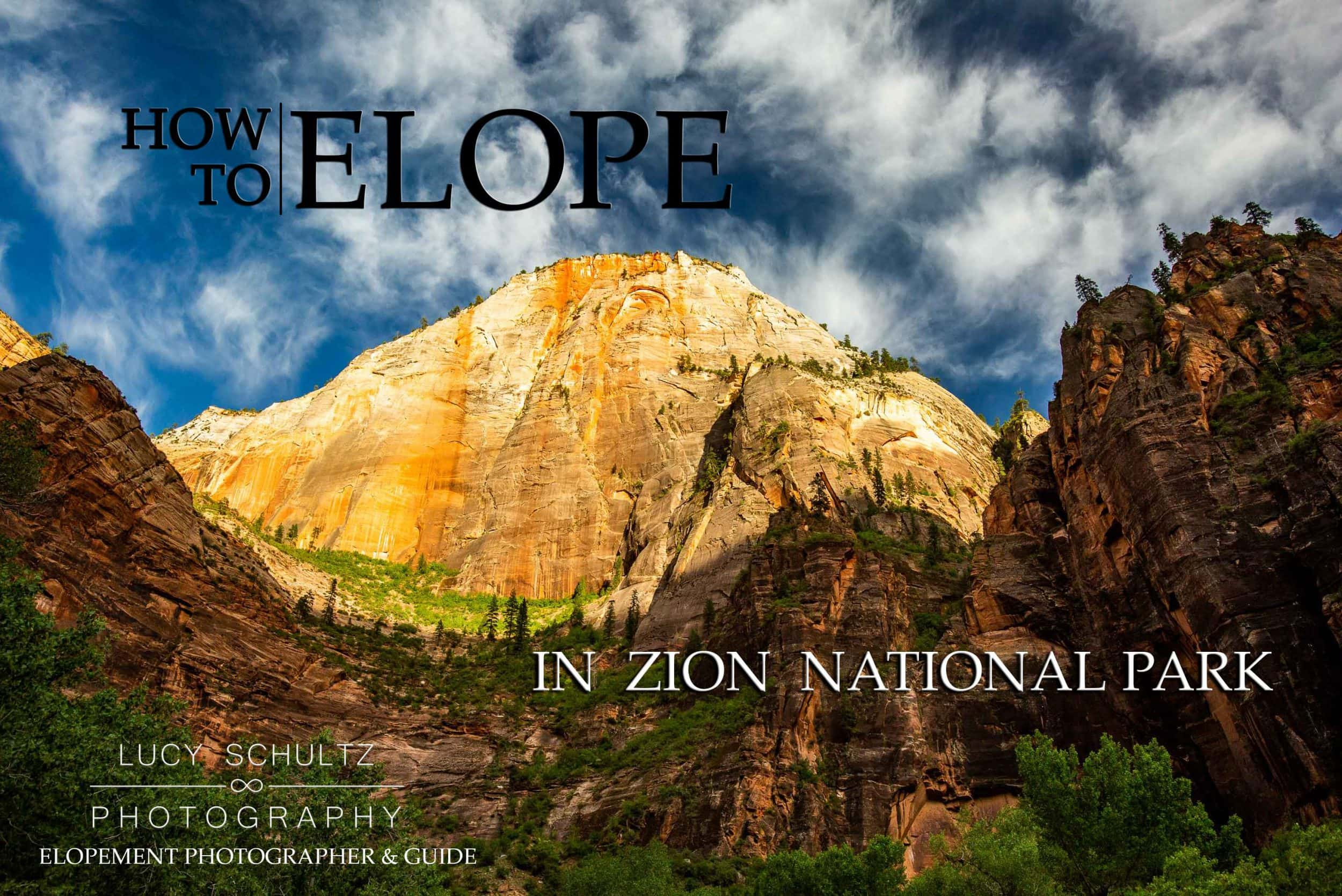 How to Elope in Zion National Park