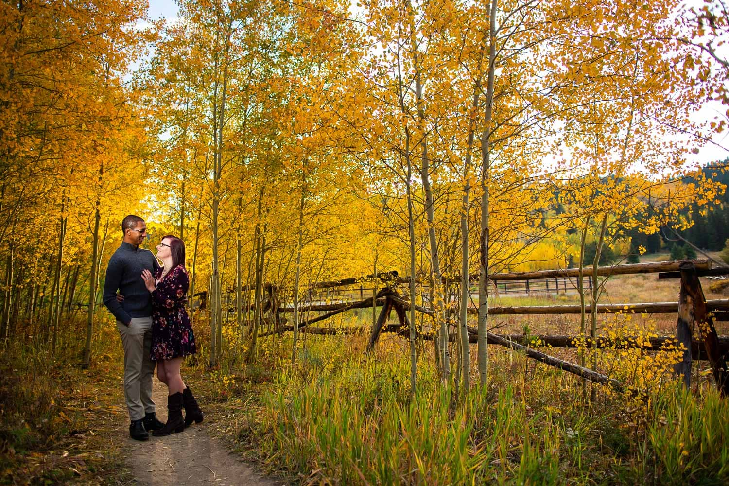 Breckenridge Fall Engagement Photos