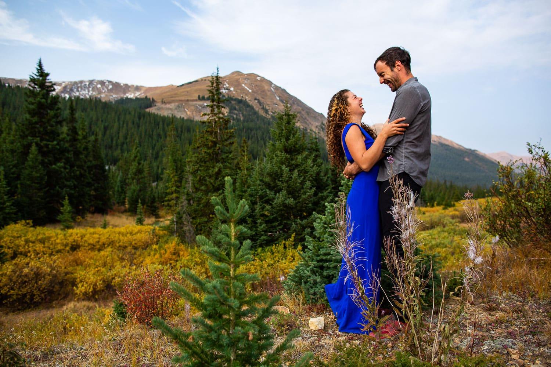 Colorado Adventure Engagement Session in Keystone