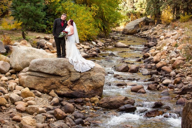 Estes Park Intimate Wedding on Fall River in October