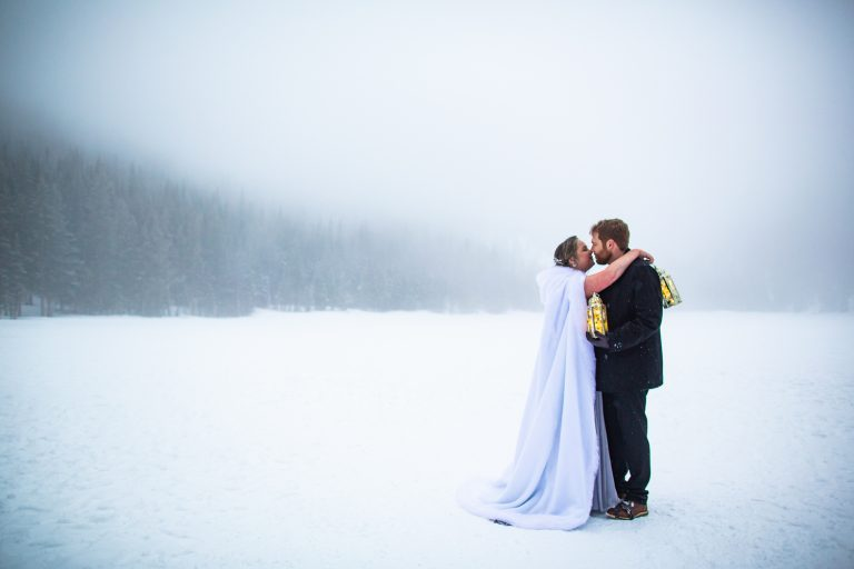 Bear Lake Elopement in the Fog